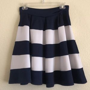 Brenda's Striped Circle Skirt